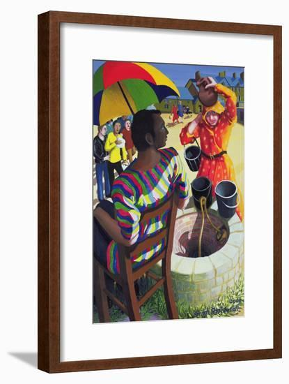 Jesus and Samaritan Woman at the Well, 2002-Dinah Roe Kendall-Framed Giclee Print