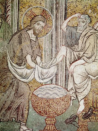 Jesus and St. Peter, Detail from Jesus Washing the Feet of the Apostle--Giclee Print