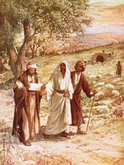 Jesus Appearing to Two Disciples on the Road to Emmaus-William Brassey Hole-Premium Giclee Print