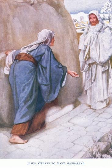 Jesus Appears to Mary Magdalene-Arthur A^ Dixon-Giclee Print