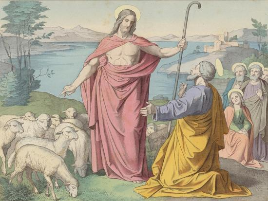 Jesus Appears to Peter, His Vicar on Earth--Giclee Print
