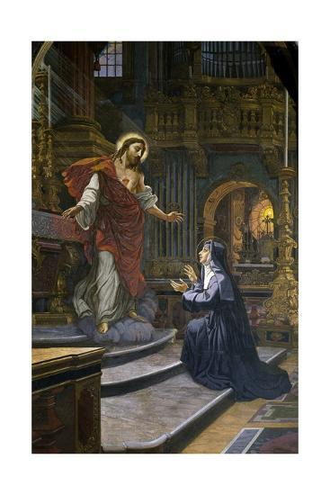 Jesus Appears to St. Margaret Mary Alacoque--Giclee Print