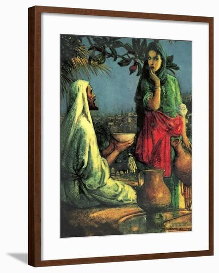 Jesus at Jacob's Well-John Millar Watt-Framed Giclee Print