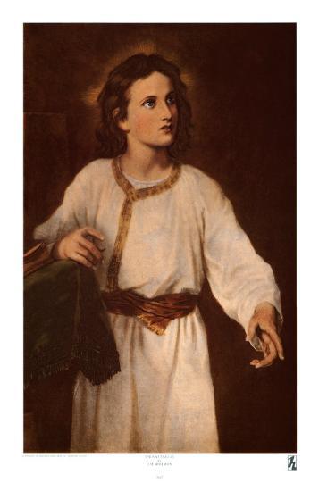 Jesus at Twelve-J^ M^ Hoffman-Art Print