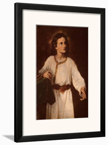 Jesus at Twelve-J. M. Hoffman-Framed Art Print