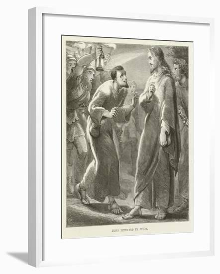 Jesus Betrayed by Judas--Framed Giclee Print