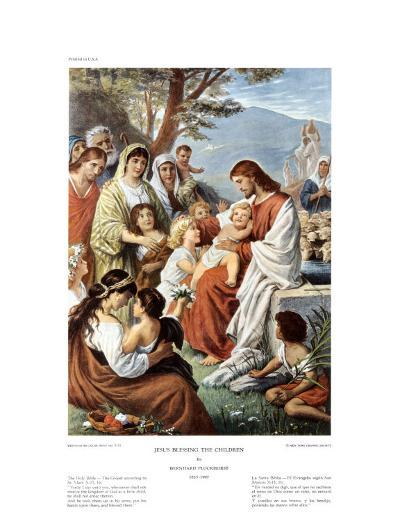 Jesus Blessing the Children-Bernhard Plockhorst-Art Print