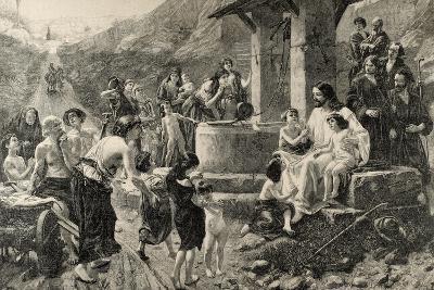 Jesus Blessing the Children--Giclee Print