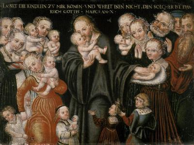 Jesus Blessing the Children-Lucas Cranach the Elder-Giclee Print