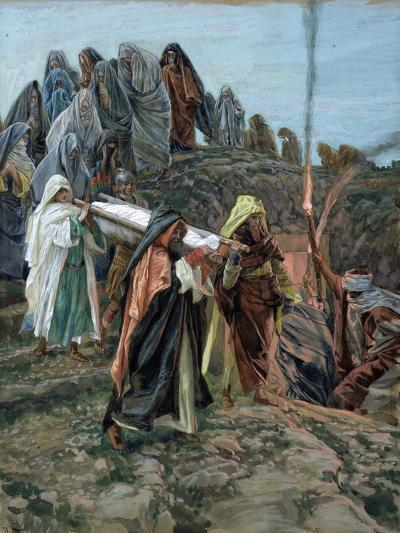 Jesus Carried to the Tomb, Illustration for 'The Life of Christ', C.1886-94-James Tissot-Giclee Print