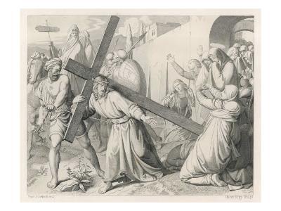Jesus Carries His Cross--Giclee Print