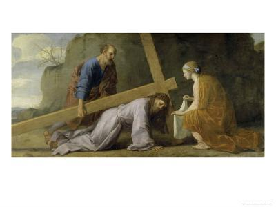 Jesus Carrying His Cross-Eustache Le Sueur-Giclee Print