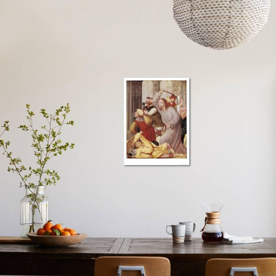 Jesus Chasing the Merchants from the Temple Giclee Print by Quentin ...