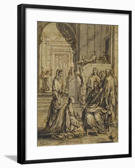Jésus chez Marthe et Marie-Eustache Le Sueur-Framed Giclee Print