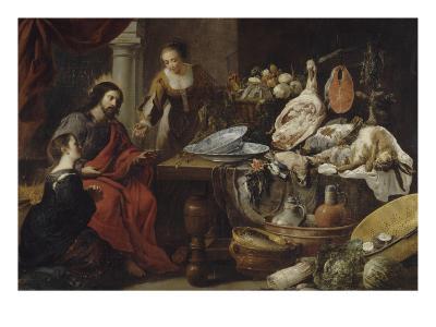 Jésus chez Marthe et Marie-Jan Fyt-Giclee Print