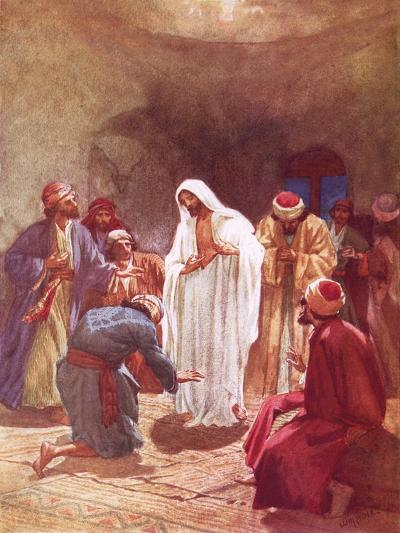 Jesus Childing Thomas for His Unbelief-William Brassey Hole-Giclee Print