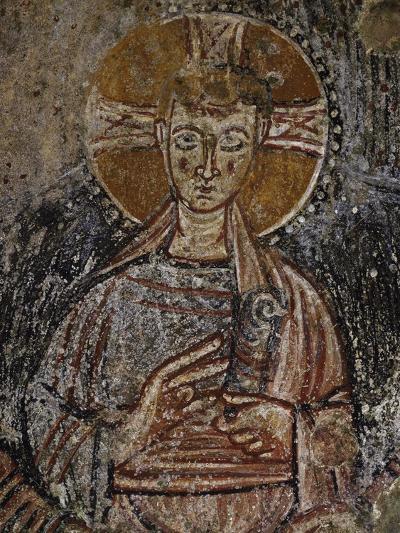 Jesus Christ, 11th Century Fresco, Cave of Saints, Calvi, Campania, Italy--Giclee Print