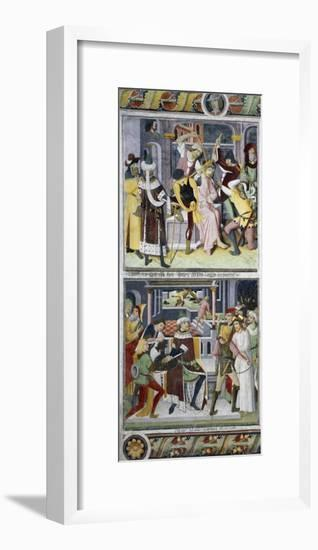 Jesus Christ Crowned with Thorns and Pilate Washing His Hands-Giovanni Canavesio-Framed Giclee Print