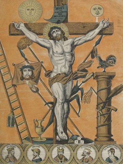 Jésus Christ en croix--Giclee Print
