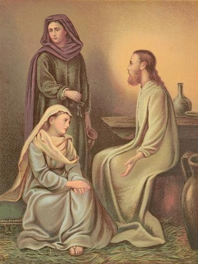 Jesus Christ in the House of Martha and Mary--Giclee Print