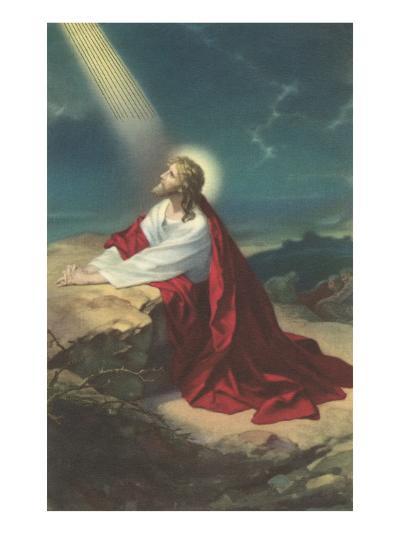 Jesus Christ Praying--Art Print