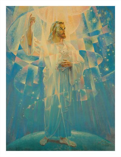 Jesus Christ - Thine is the Power-Warner Sallman-Giclee Print