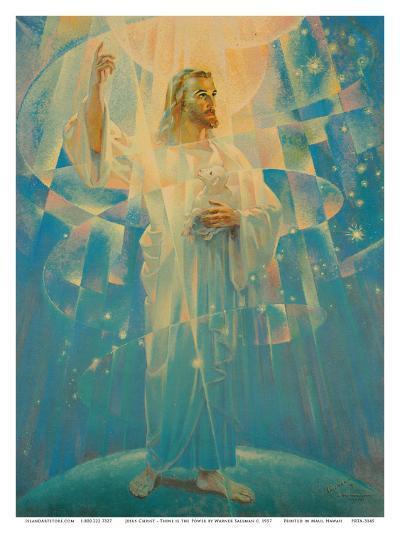 Jesus Christ - Thine is the Power-Warner Sallman-Art Print