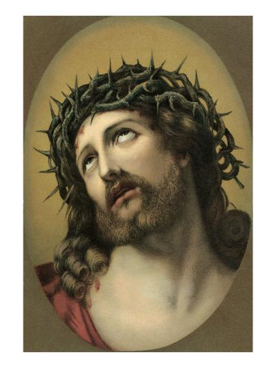Jesus Christ with Crown of Thorns--Art Print