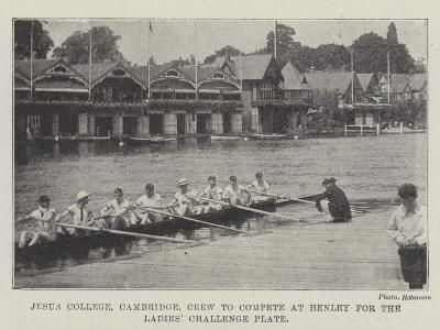 Jesus College, Cambridge, Crew to Compete at Henley for the Ladies' Challenge Plate--Giclee Print