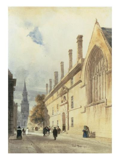 Jesus College from Thurl Street, Oxford, 1832-Thomas Shotter Boys-Giclee Print