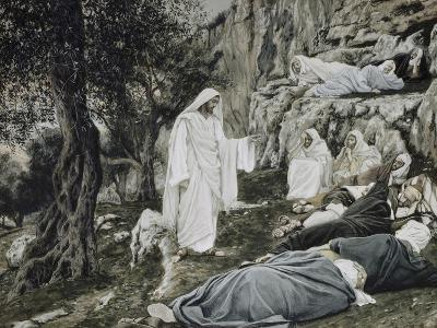 Jesus Commands His Disciples to Rest-James Tissot-Giclee Print