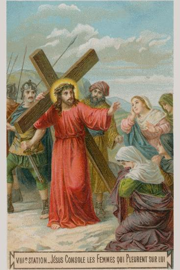 Jesus Consoles the Women Who are Weeping for Him. the Eighth Station of the Cross--Giclee Print