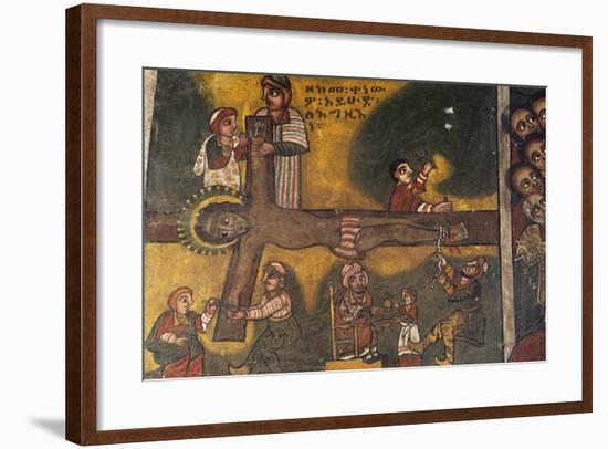 Jesus Crucified, Paintings in Debre Birhan Selassie Coptic Church--Framed Giclee Print