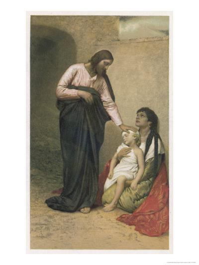 Jesus Depicted as a Healer-Gabriel Max-Giclee Print