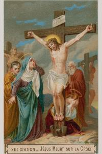 Jesus Dies on the Cross. the Twelth Station of the Cross