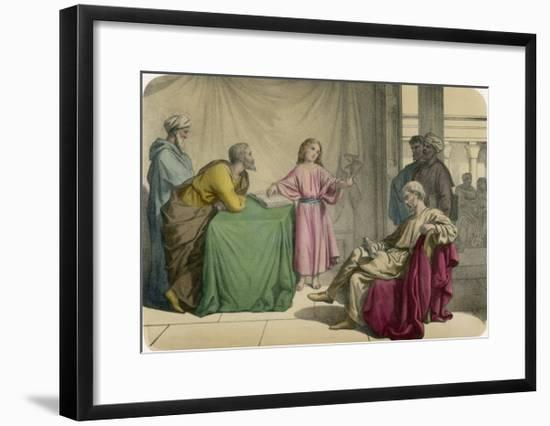 Jesus Discusses Theology with the Doctors in the Temple at Jerusalem--Framed Giclee Print