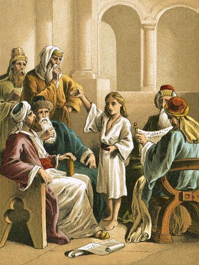 Jesus Disputing with the Doctors-English-Giclee Print