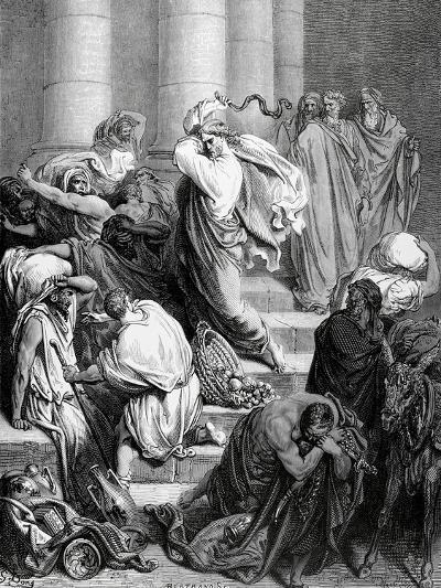 Jesus Drives the Merchants from the Temple--Giclee Print