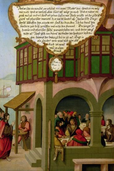 Jesus Eating with the Taxpayers and Sinners (Matthew 9, Mark 2, Luke 5) Section of Wing Panel…-Matthias Gerung or Gerou-Giclee Print