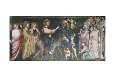 Jesus Entering Jerusalem, Scene from Life of Christ, 1320-1325--Giclee Print