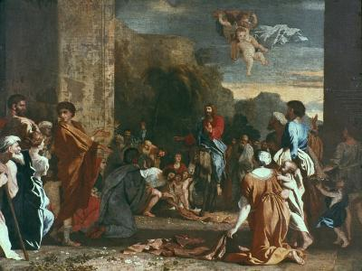 Jesus Enters Jerlusalem, C1630-Nicolas Poussin-Giclee Print