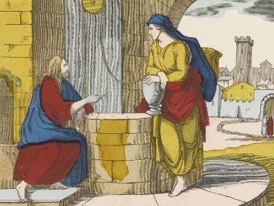 Jésus et la Samaritaine--Giclee Print
