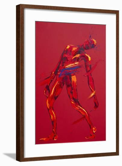 Jesus Falls for the First Time - Station 3-Penny Warden-Framed Giclee Print