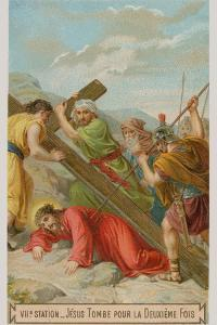 Jesus Falls for the Second Time. the Seventh Station of the Cross