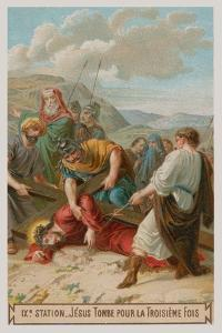 Jesus Falls for the Third Time. the Ninth Station of the Cross
