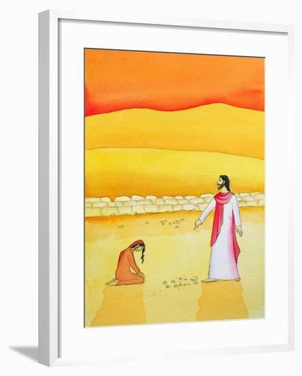Jesus Forgives the Woman Caught in Adultery, 2006-Elizabeth Wang-Framed Giclee Print