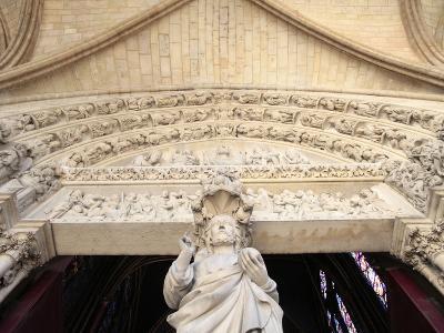 Jesus, Front Portal of Upper Chapel, Sainte-Chapelle, Paris, France, Europe-Godong-Photographic Print