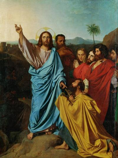 Jesus Giving the Keys to St. Peter-Jean-Auguste-Dominique Ingres-Giclee Print