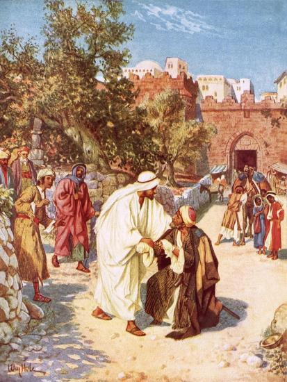 Jesus Healing a Leper-William Brassey Hole-Giclee Print
