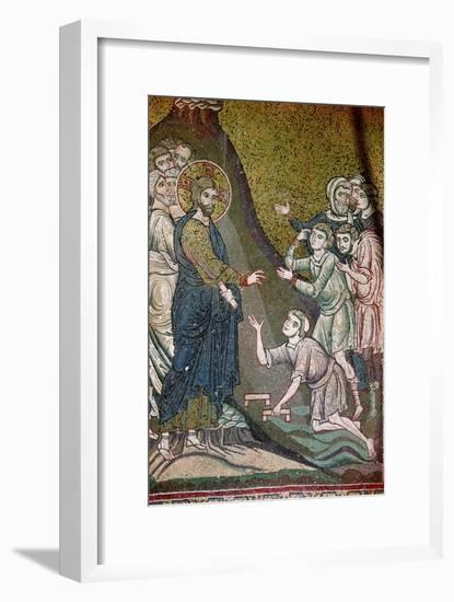 Jesus Healing the Crippled and the Blind--Framed Giclee Print